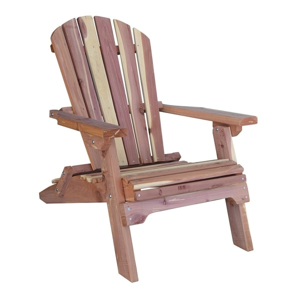unfinished adirondack chair director covers home depot shop amerihome amish made folding cedar brown free shipping today overstock com 21466302