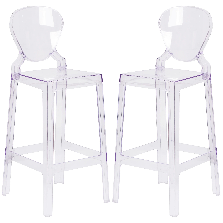 ghost bar chair ergonomic miller modern tear drop design transparent crystal stool ebay details about