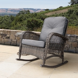 wicker rocking chairs holly hunt siren chair buy outdoor sofas sectionals online at overstock com our best patio furniture deals