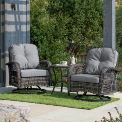 Swivel Chairs For Sale Pool Chair Towel Covers Shop Corvus Livorno Outdoor 3 Piece Wicker Chat Set With