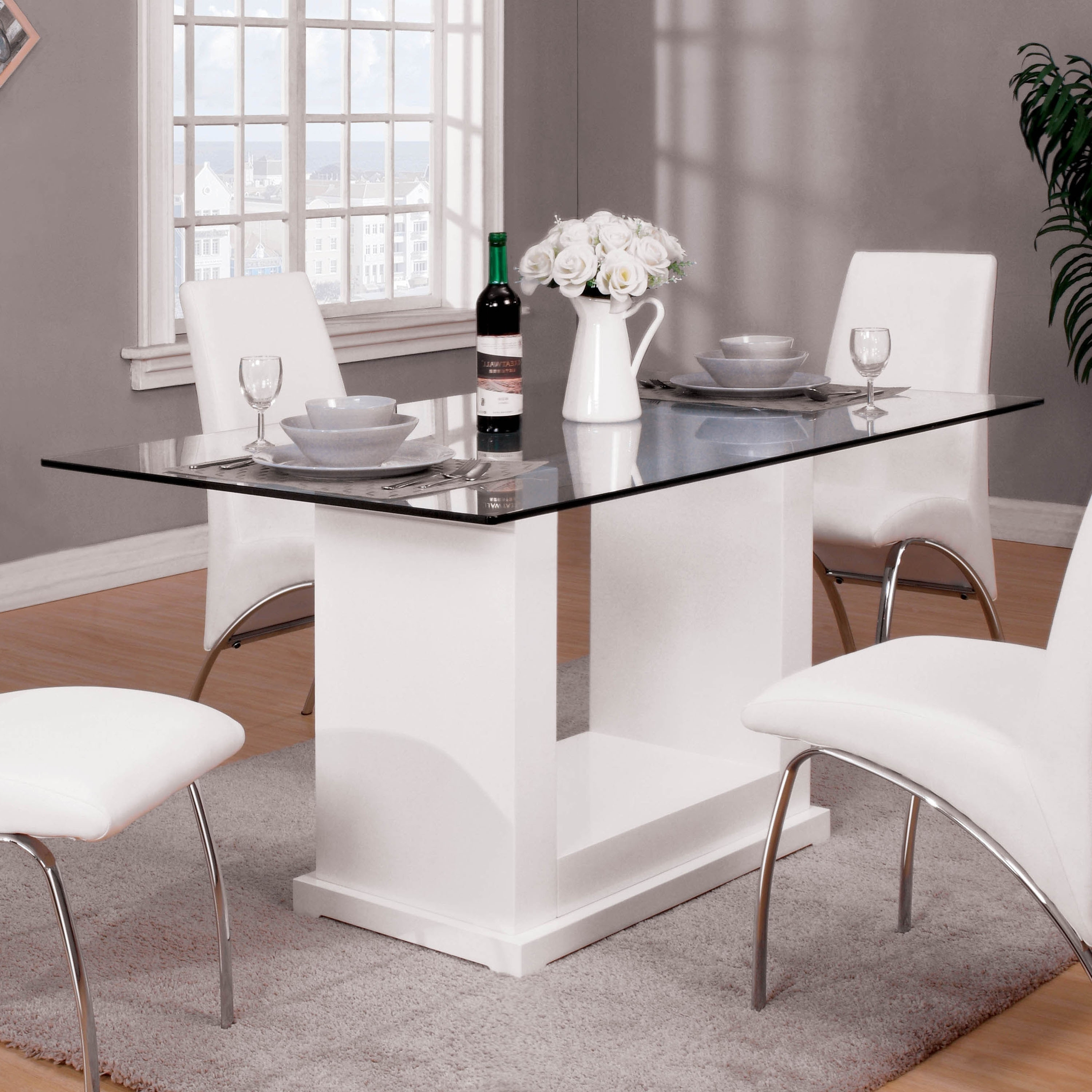 Shop Furniture Of America Jem Contemporary White Wood Dining Table On Sale Overstock 21501079