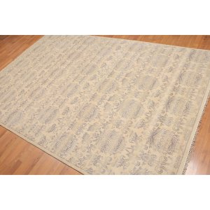 Hand-Knotted Damask Oriental Area Rug - 6'x9'