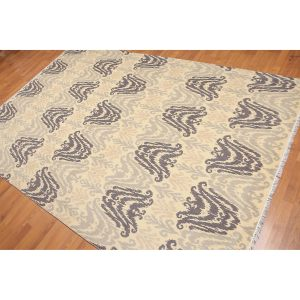 Transitional Ikat Hand-Knotted Oriental Area Rug - 6'x9'