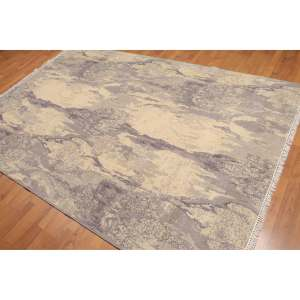 Designer Distressed Grunge Look Oriental Area Rug - 6'x9'