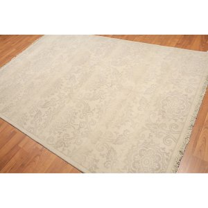 Floral Persian Oriental Area Rug Hand-Knotted - 6'x9'