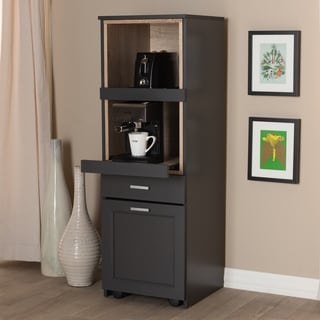 freestanding kitchen chocolate cabinets buy online at overstock com our best porch den stacy dark grey and oak brown cabinet
