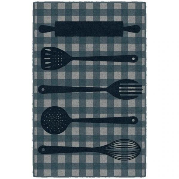 navy kitchen rug outdoor plans shop brumlow mills utensils in 20x34