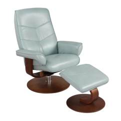 Swivel Club Chair With Ottoman Camouflage Recliner Shop New Ridge Home In Pastel Blue Amp