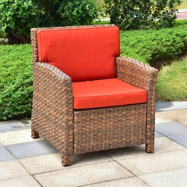 wicker patio chair cushions rocking pads walmart shop international caravan majorca resin with cushion free shipping today overstock com 21612693