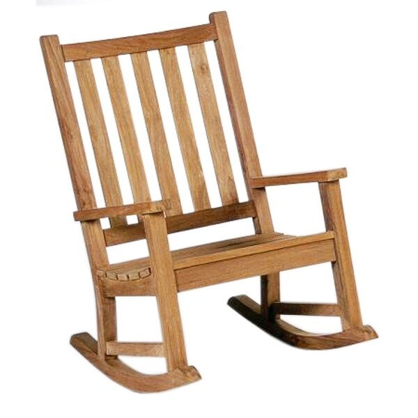 wood rocking chair styles desk with back support shop offex solid teakwood country style outdoor free