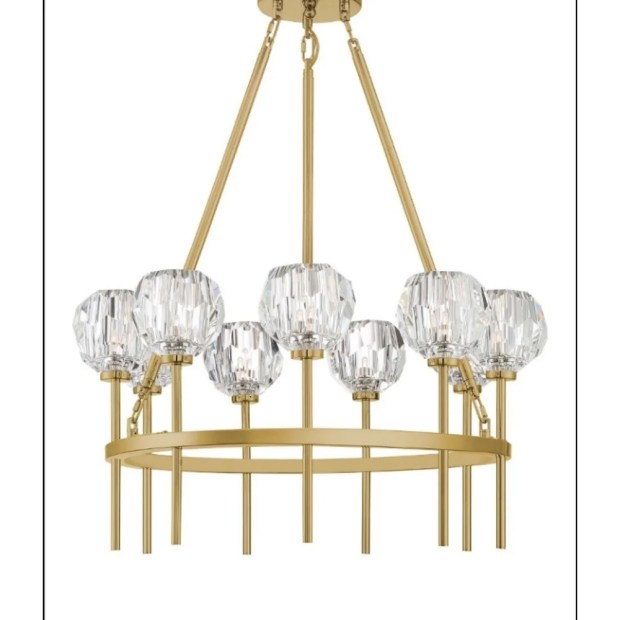 Parisian 9-light Goldtone Steel Chandelier