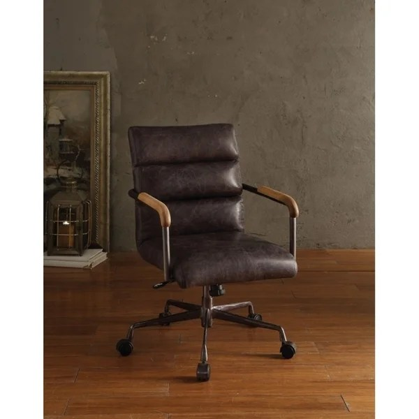 Shop Metal  Leather Executive Office Chair Antique Brown