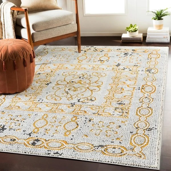 yellow and gray rug for living room luxury interior design shop lucca distressed mosaic area 7 10 x 3 amp