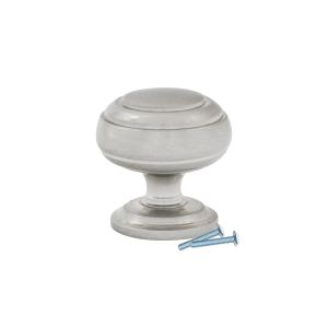 5 Pack Classic Round Ring Brushed Nickel Cabinet Knob 1-1/4""