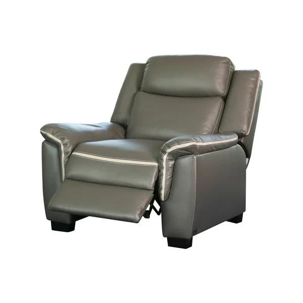 power chair for sale swings bedroom shop abbyson stoneridge grey leather on free
