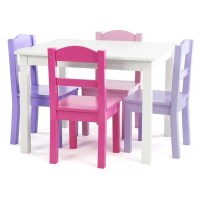 Shop Forever 5-Piece Wood Kids Table & Chairs Set in White ...