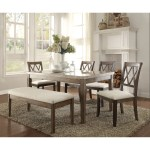 Amicable Dining Table With Marble Top Brown And White On Sale Overstock 21811998