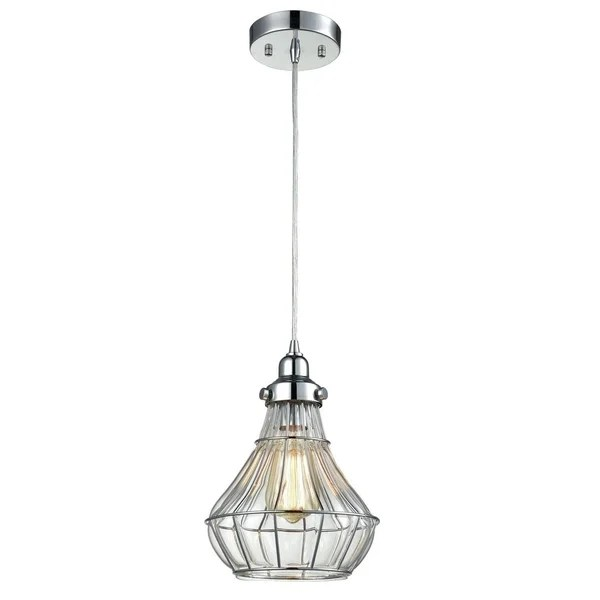 Shop Vintage Cracked Glass Wire Cage Ceiling Pendant Light