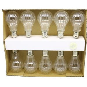 Clear Textured Edison String Lights With 10 LED Bulbs