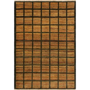Gabbeh Pamala Charcoal/Rust Wool Area Rug (4'2 x 5'11) - 4 ft. 2 in. x 5 ft. 11 in.