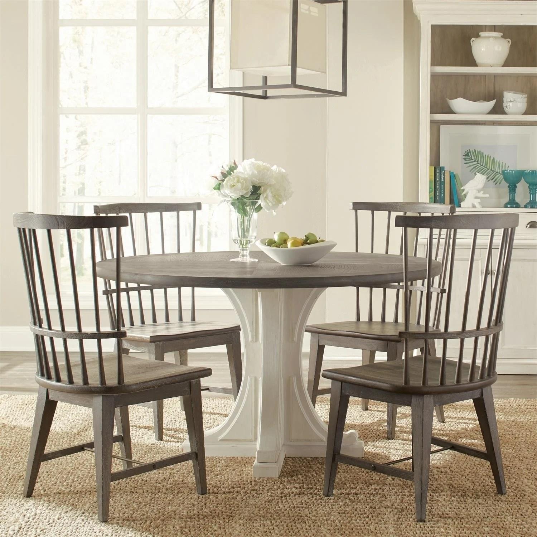 Juniper Round Pedestal Dining Table Base Only Chalk Overstock 21891630
