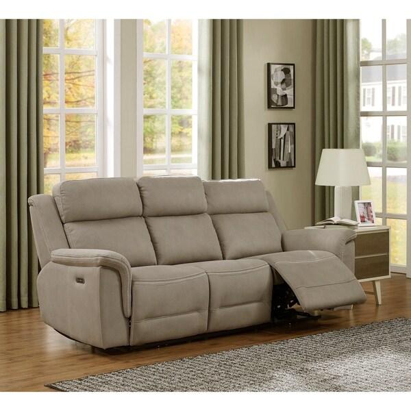grey power reclining sofa flexsteel westport shop maxim stone with headrests