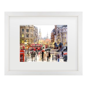 The Macneil Studio 'London Landscape' Matted Framed Art