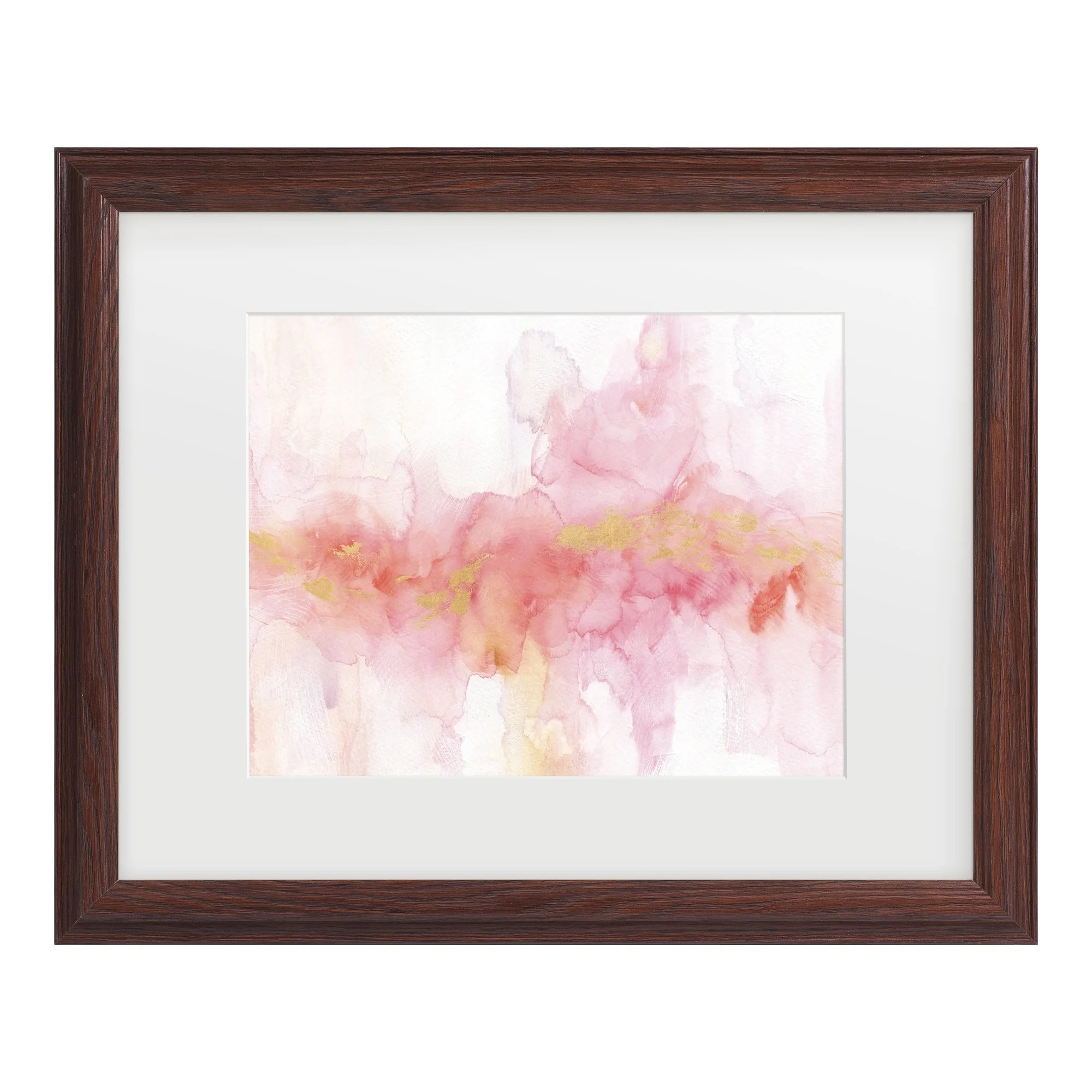 Lisa Audit 'Rainbow Seeds Abstract Gold' Matted Framed Art
