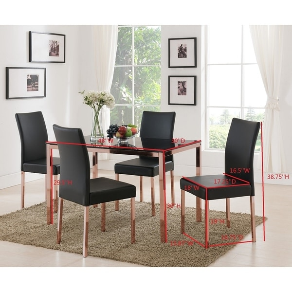black glass living room furniture pics of beautifully decorated rooms shop rose copper metal frame dining table on sale amp