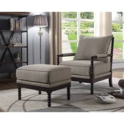 Chair With Ottoman Wedding Covers Designs Shop Best Master Furniture Taupe Espresso Arm And Set Free Shipping Today Overstock Com 21946089