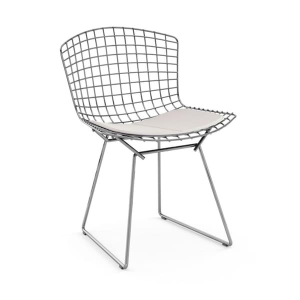 mid century modern wire chair velvet dining room chairs shop chromed steel frame side with leatherette pu pad white free shipping today overstock com 21956543