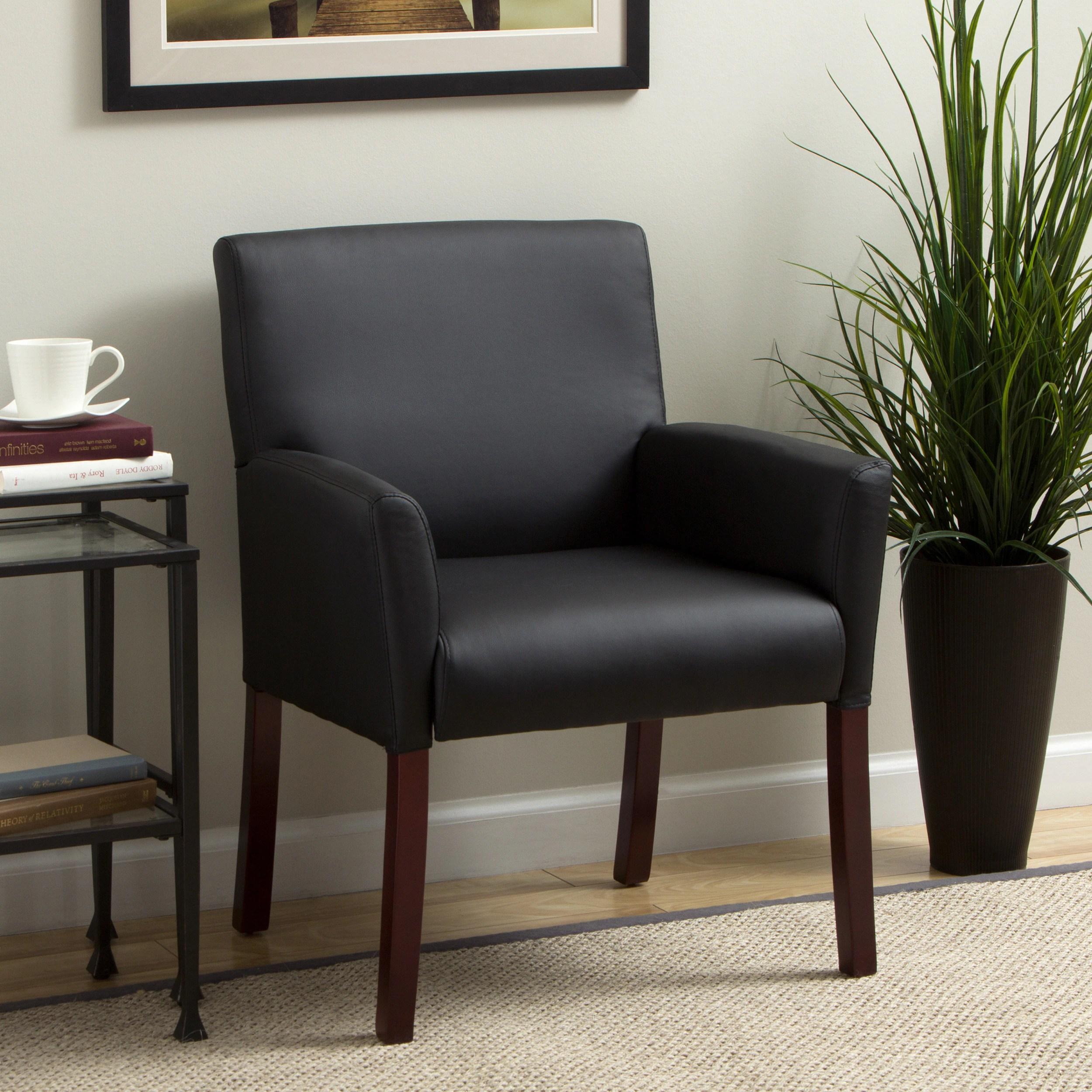 overstock arm chair tilting office mechanism boss caressoft reception box