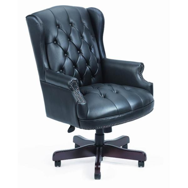 office chair overstock revolving cover shop boss traditional high back executive free shipping