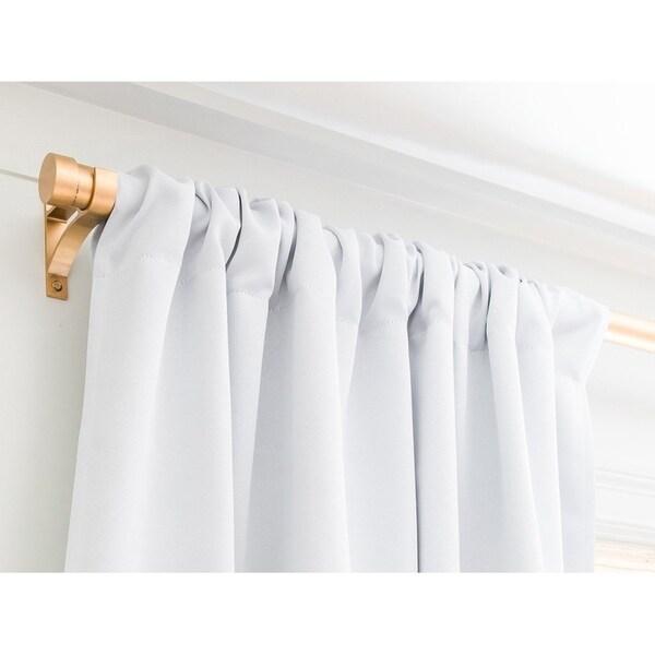 schatzi brown unicorn toss light linen blackout curtain panel