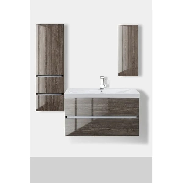 cutler kitchen and bath modern cabinet handles shop sangallo gloss collection fossil oak wood amp 36 inch wall mount