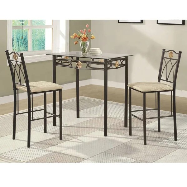 bistro chairs dining room design house stockholm wicker chair shop home source crown 3 piece set with glass top table and matching pair of
