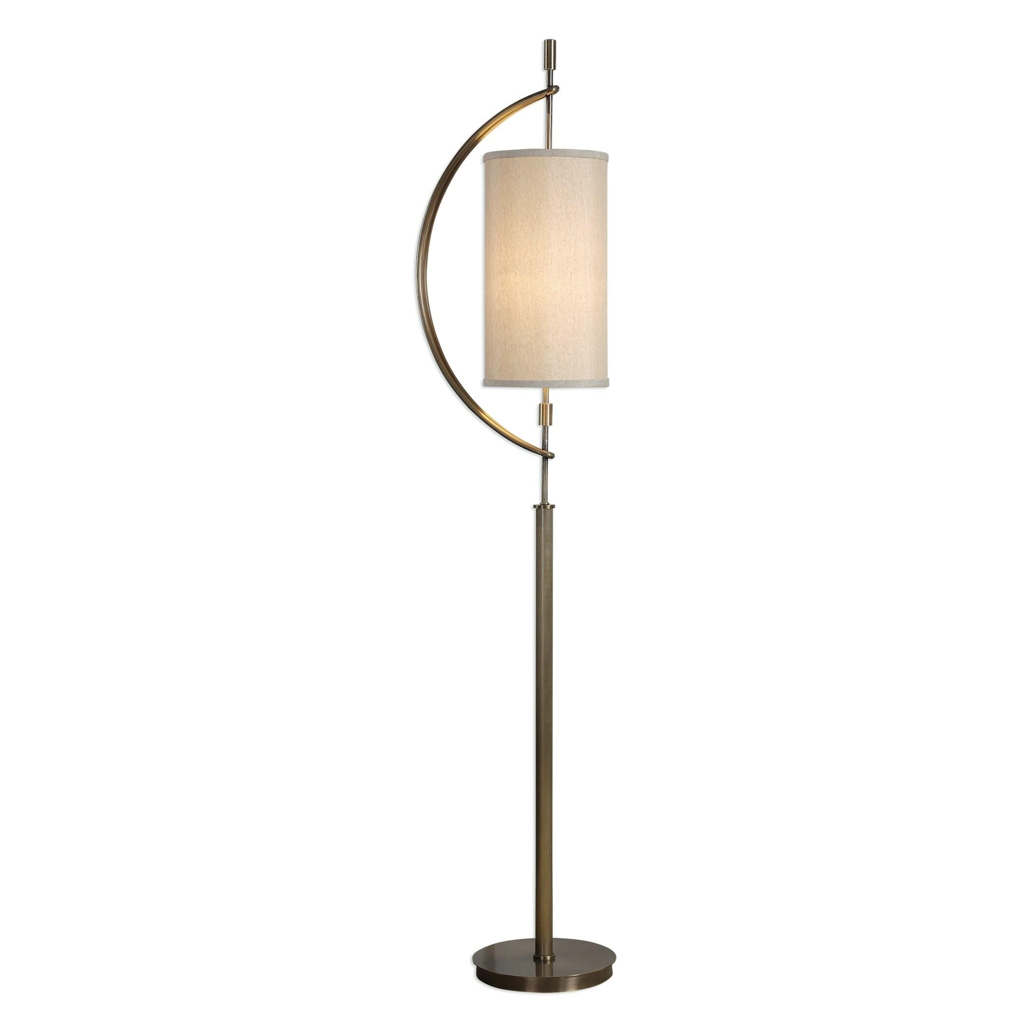 uttermost balaour antique brass plated 1 light floor lamp