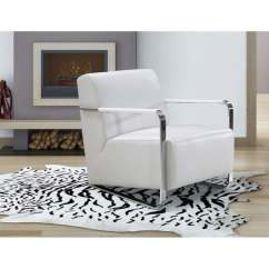 White Leather Chairs For Sale Bamboo Style Dining Shop Divani Casa Bison Modern Lounge Chair On