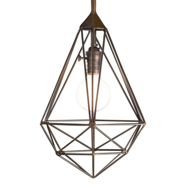 "CG Sparks Diamond Cage 11"" Dia. Pendant Light (India)"