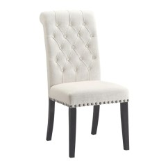 Cream Upholstered Dining Chairs Microfiber Office Chair Shop Parkins Free Shipping Today