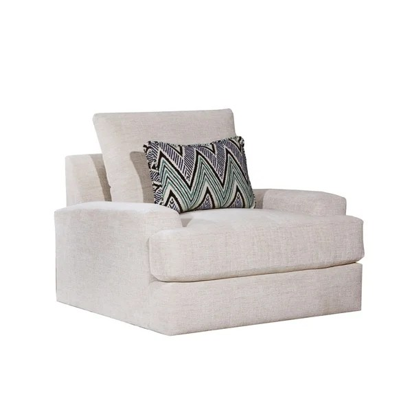 ab swivel chair tufted lounge shop lane luxe seating celine parchment free shipping today overstock com 22159941