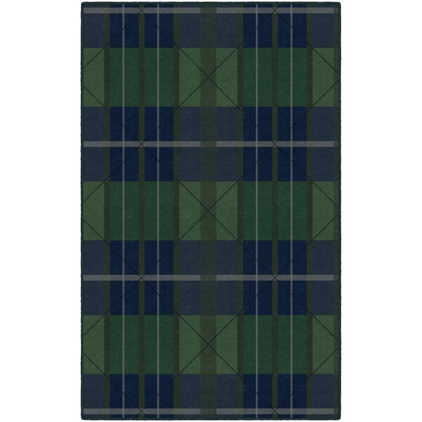 "Brumlow Mills Green/Blue Traditional Plaid Area Rug --""Inexpensive Apartment Decorating Ideas"""