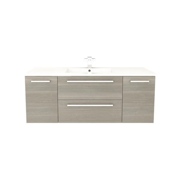 cutler kitchen and bath vanity stonewall com shop silhouette collection aria wood finish wall mount bathroom with 2 doors drawers marble top free shipping today