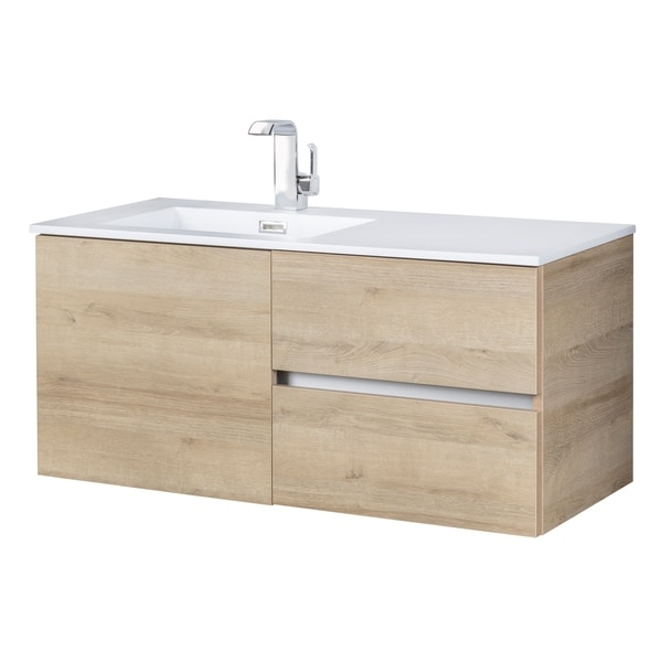 cutler kitchen and bath quartz shop beachwood collection organic 42 inch wall amp mount modern bathroom vanity
