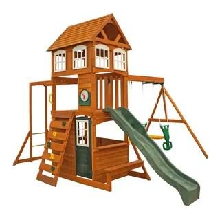 Kidkraft Cranbrook Wooden Playset Swing Set