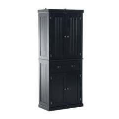 Kitchen Pantry Storage Booth Plans Buy Online At Overstock Com Our Best Homcom Tall 72 In Traditional Colonial Style Standing Cupboard Cabinet Black