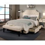 Shop Republic Design House Steel Core Audrey Storage Bed With Bench Size California King Overstock 22210432