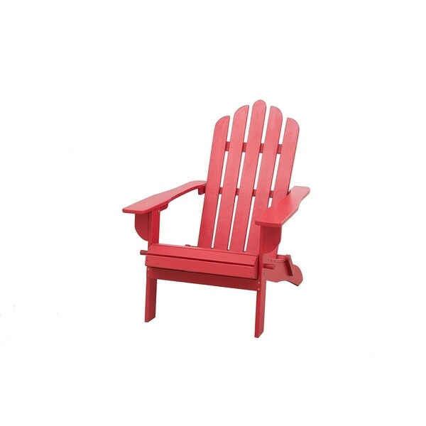 red adirondack chairs hand painted wooden childrens shop sunjoy wood folding chair free shipping today overstock com 22258449