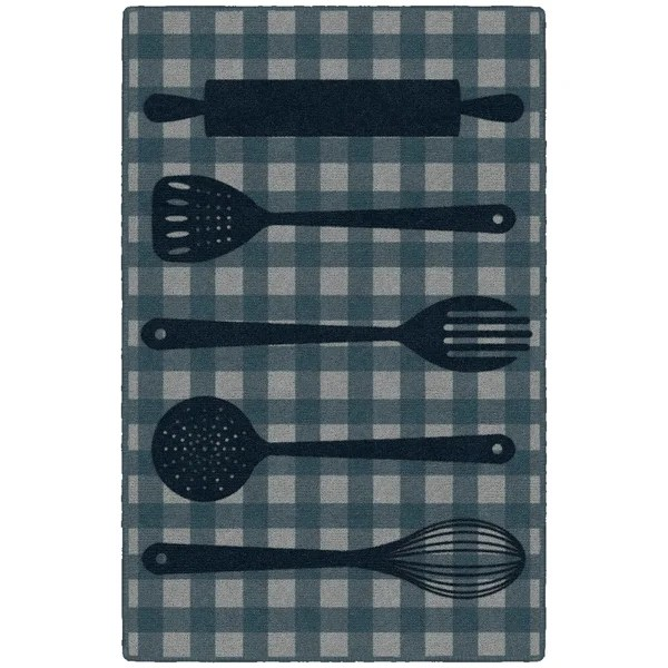 navy kitchen rug tile countertops shop brumlow mills utensils in 2 6 x27