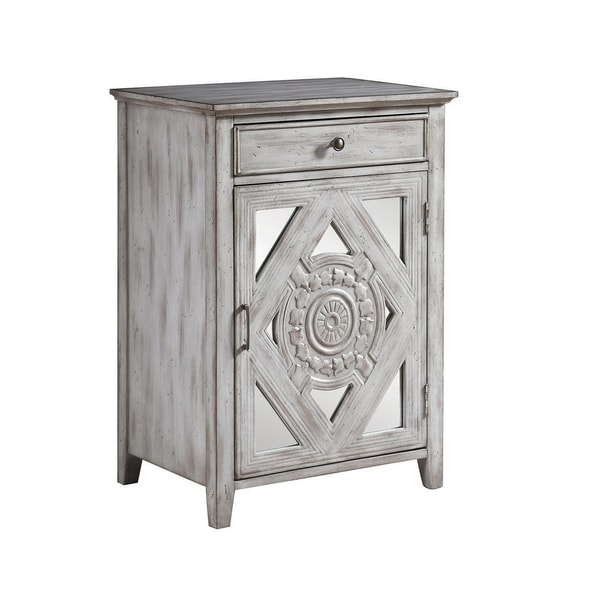 Shop Traditional Distressed Grey Accent Cabinet  On Sale